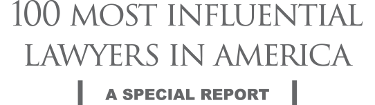 100 Most Influential Lawyers in America award logo