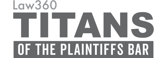 Law360 Titans of the Plaintiffs Bar award logo